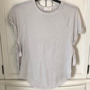 Size small light gray tie side top